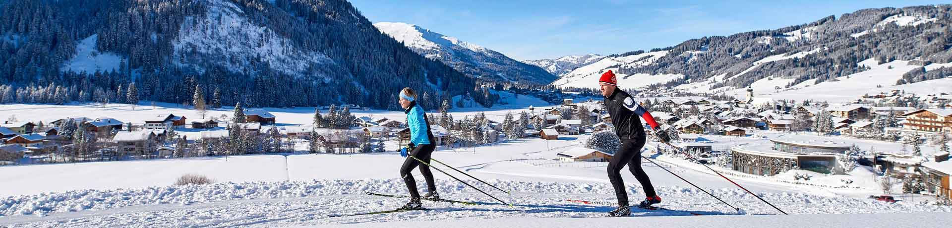 Cross-country skiing in the Tannheimer Tal, Tyrol