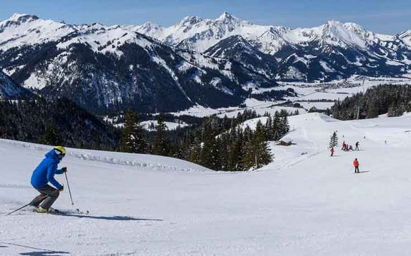 Skiing in the Tannheimer Tal, Tyrol