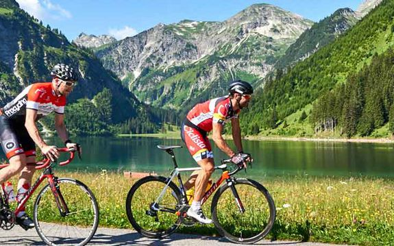 Cycling in the Tannheimer Tal, Tyrol