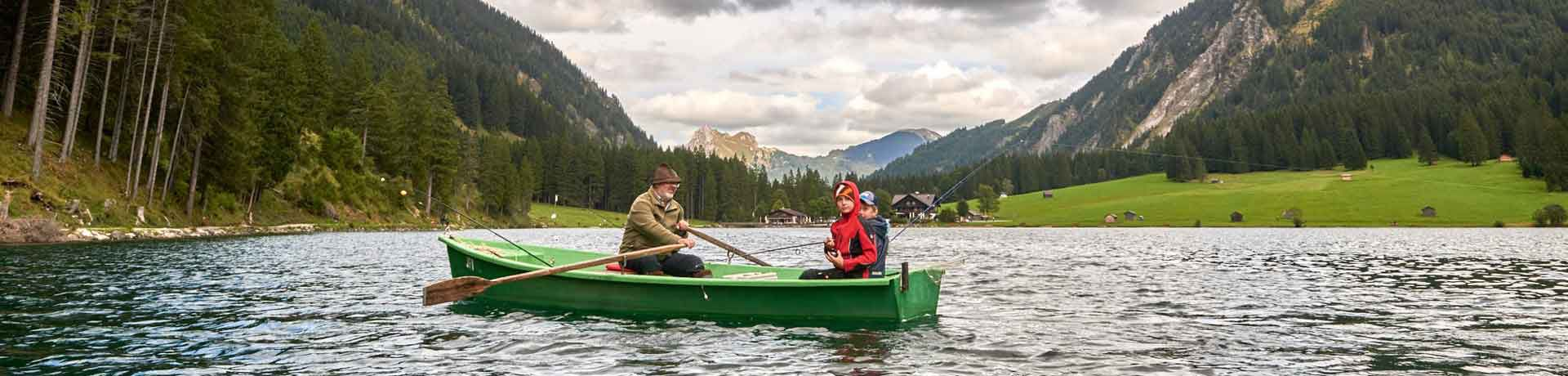 Fishing and angling on the Vilsalpsee in the Tannheimer Tal